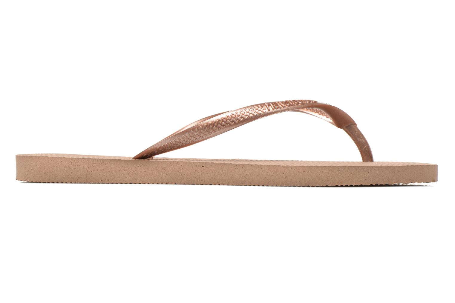 Tongs Havaianas Slim Metallic F Or et bronze vue derrière