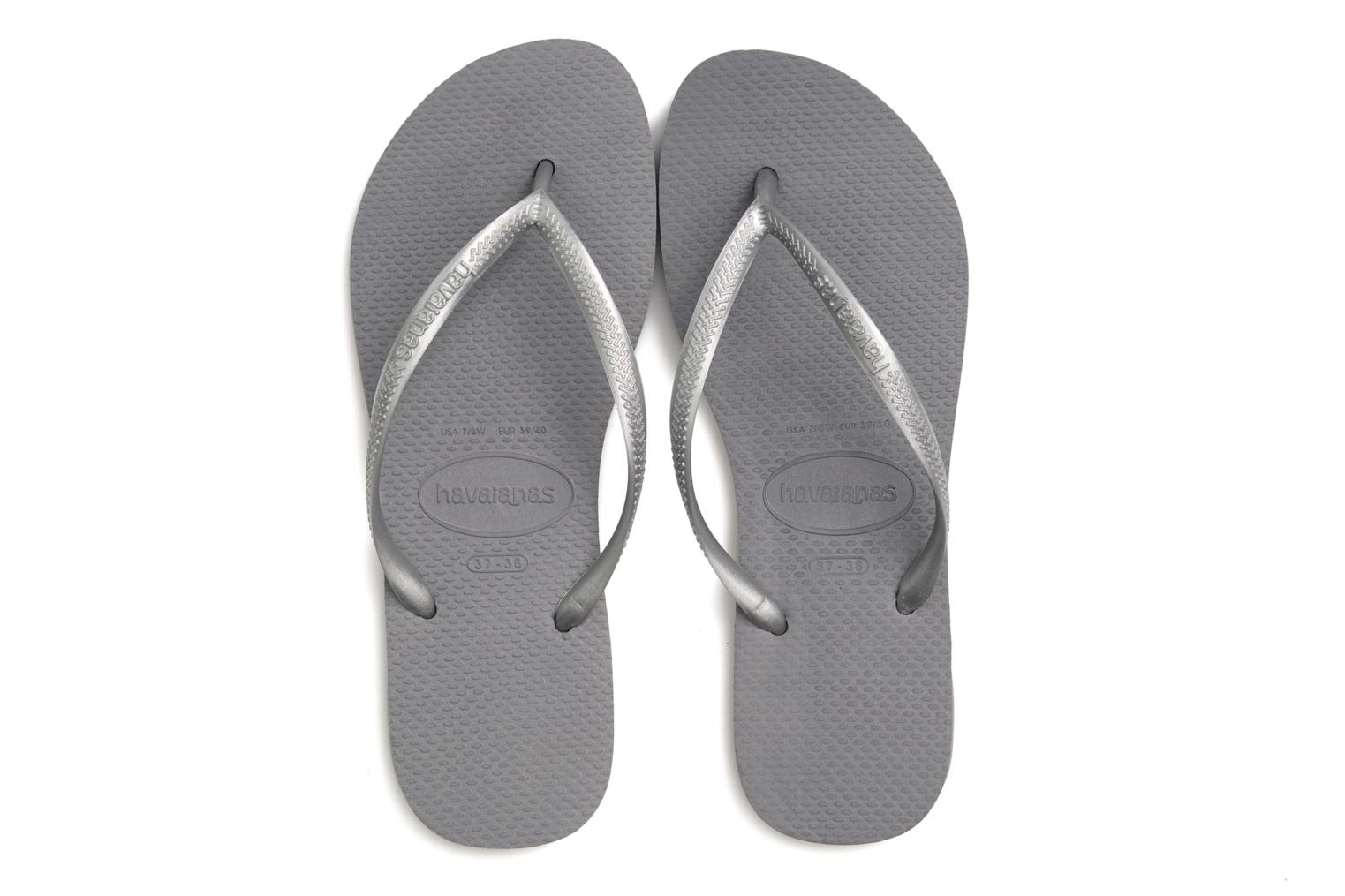 Tongs Havaianas Slim Metallic F Argent vue 3/4