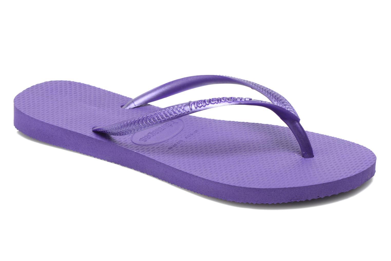 Tongs Havaianas Slim Metallic F Violet vue détail/paire