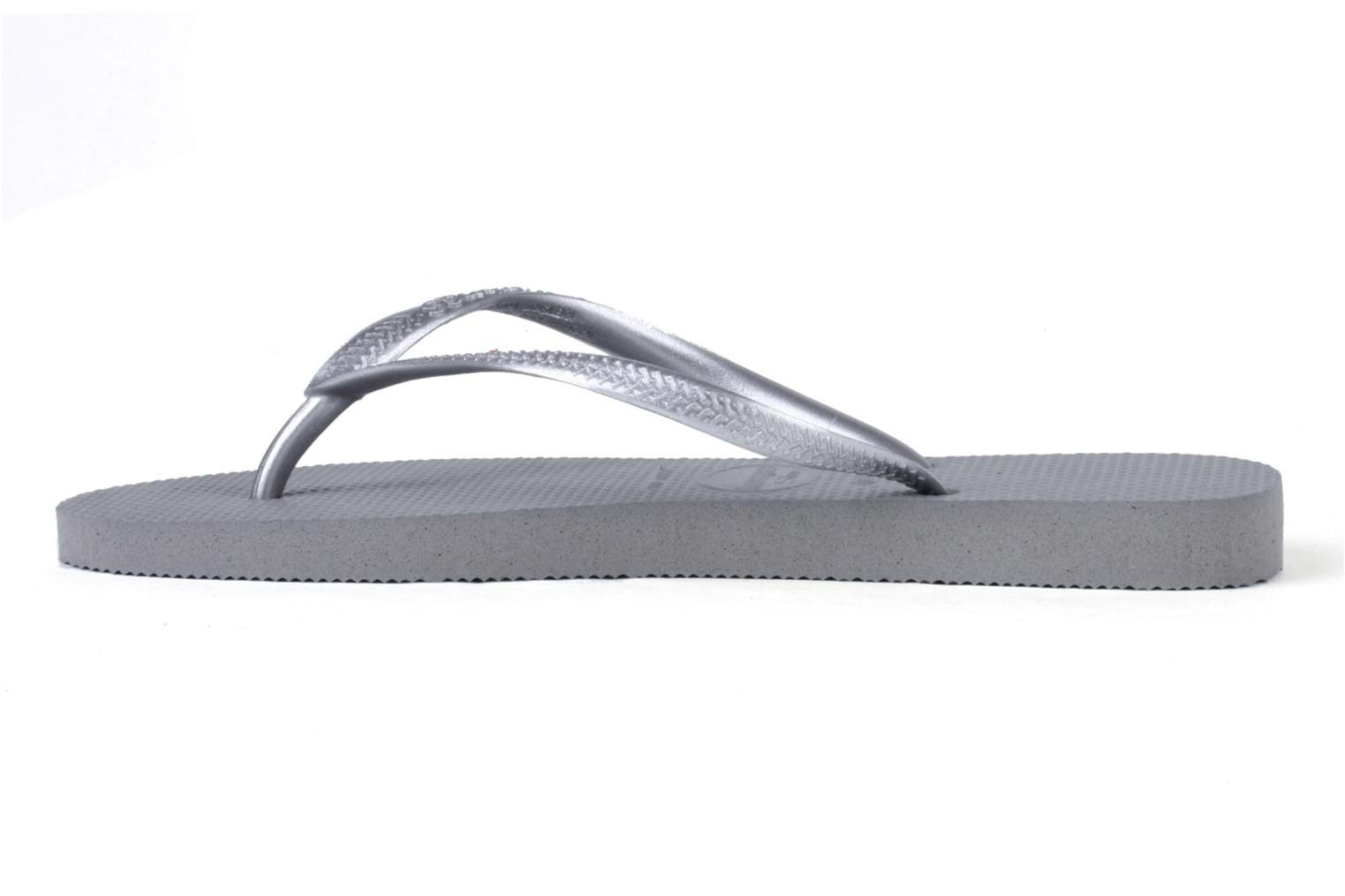 Tongs Havaianas Slim Metallic F Gris vue face