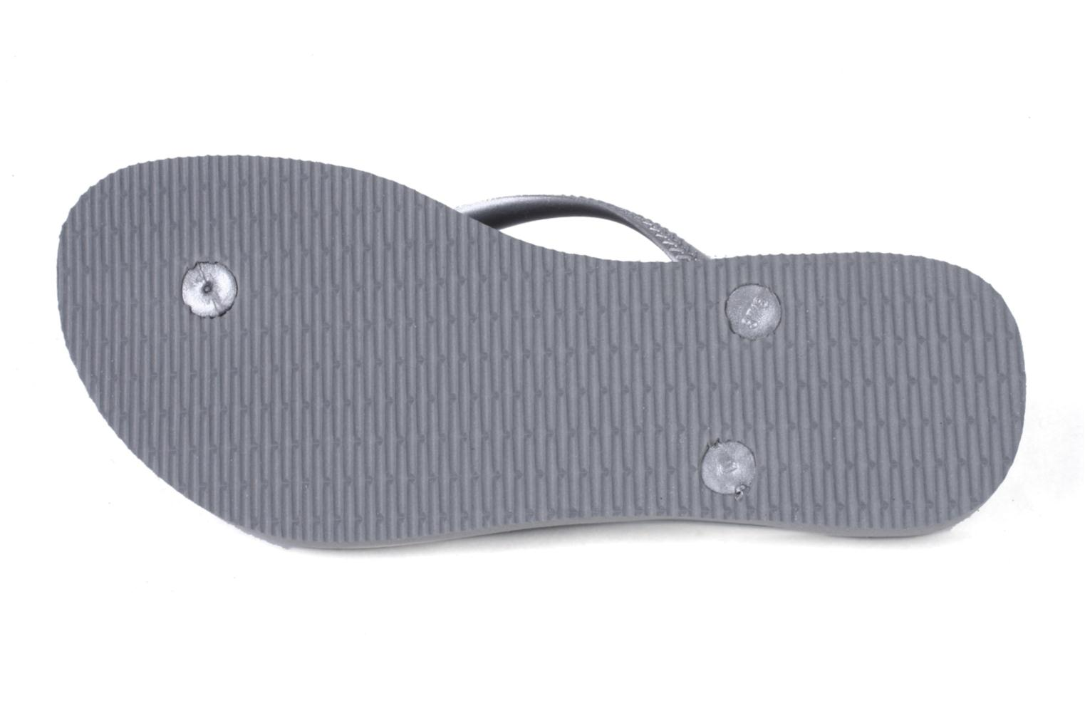 Tongs Havaianas Slim Metallic F Gris vue haut