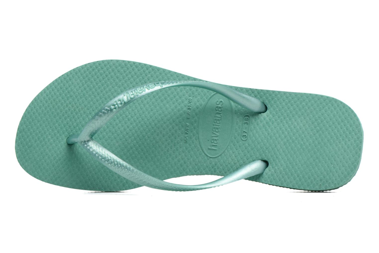 Flip flops Havaianas Slim Métallic Femme Green view from the left