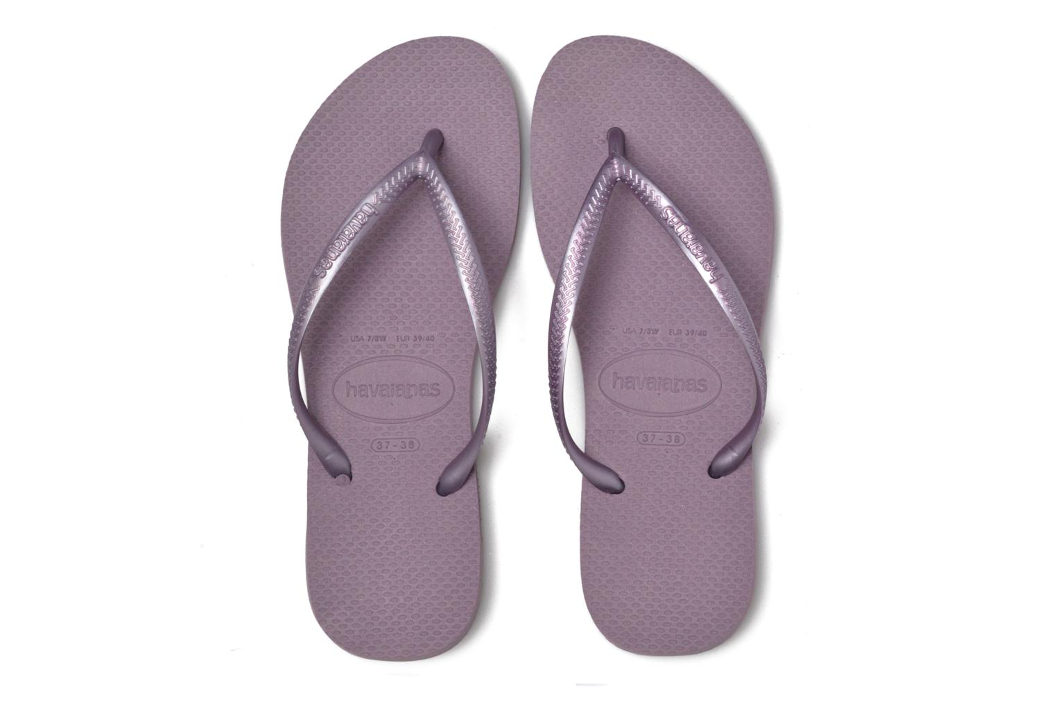 Tongs Havaianas Slim Metallic F Violet vue 3/4