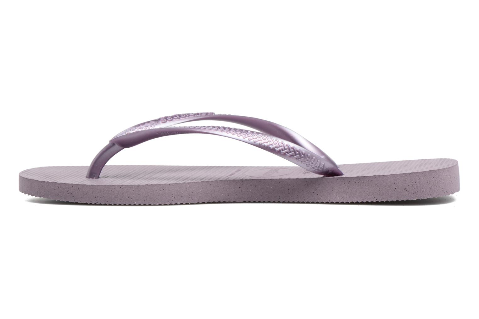 Tongs Havaianas Slim Metallic F Violet vue face