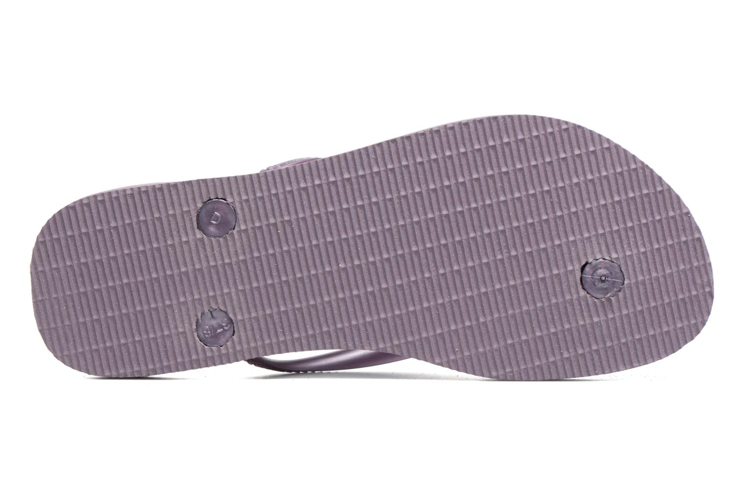 Tongs Havaianas Slim Metallic F Violet vue haut