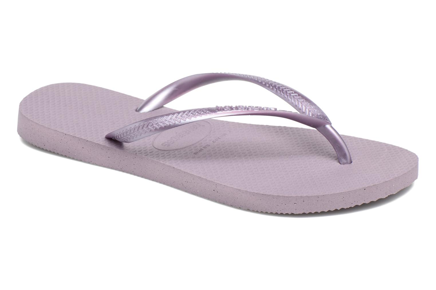 Tongs Havaianas Slim Metallic F Violet vue détail/paire
