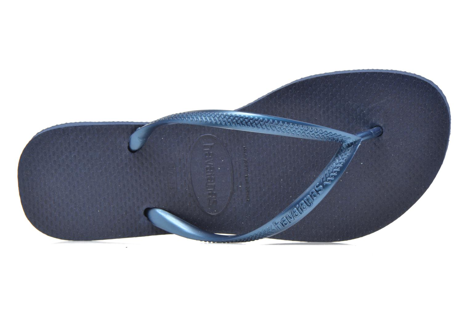 Flip flops Havaianas Slim Métallic Femme Blue view from the left