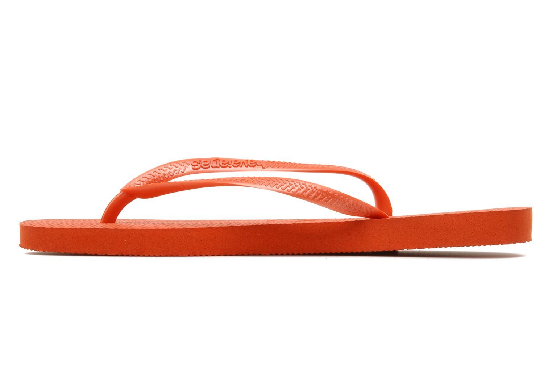 Tongs Havaianas Slim Metallic F Orange vue face