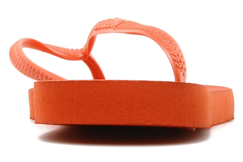 Tongs Havaianas Slim Metallic F Orange vue droite