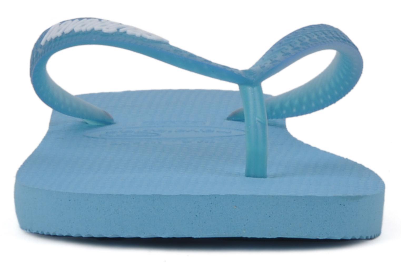 Tongs Havaianas Logo Femme Bleu vue portées chaussures
