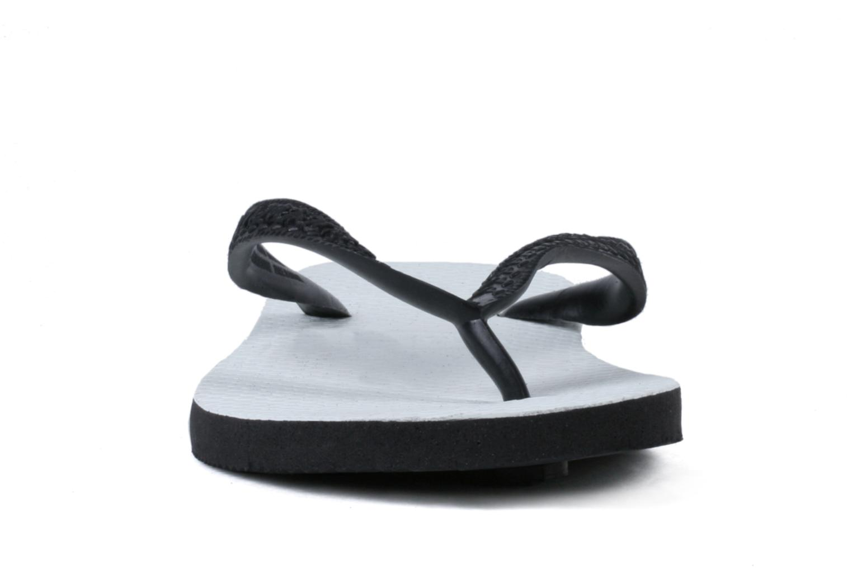 Tongs Havaianas Tradicional Femme Noir vue portées chaussures