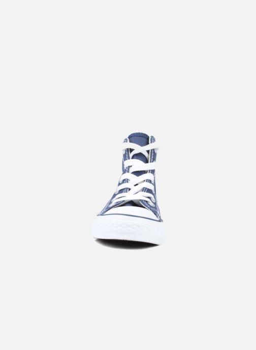 Baskets Converse Chuck Taylor All Star Hi K Bleu vue portées chaussures