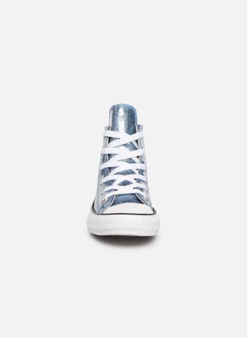 Sneakers Converse Chuck Taylor All Star Hi K Argento modello indossato