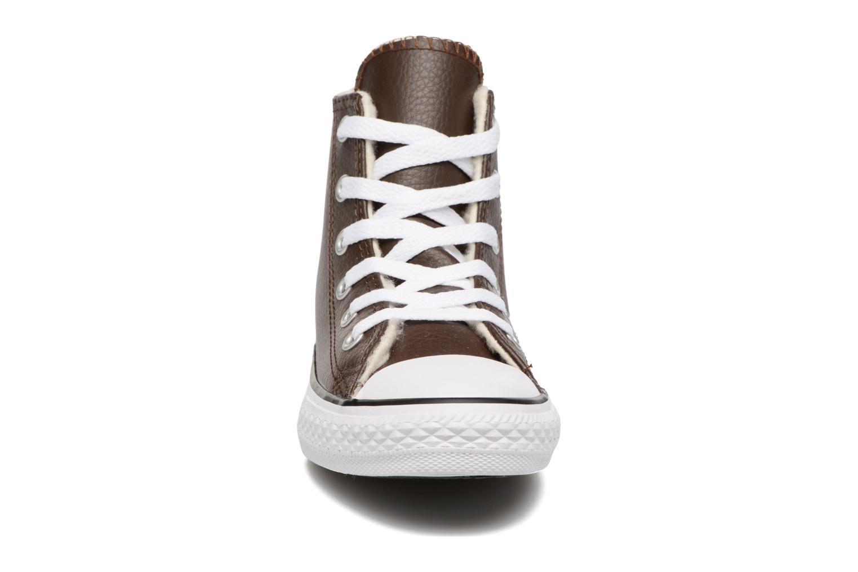 Sneaker Converse Chuck Taylor All Star Hi K braun schuhe getragen