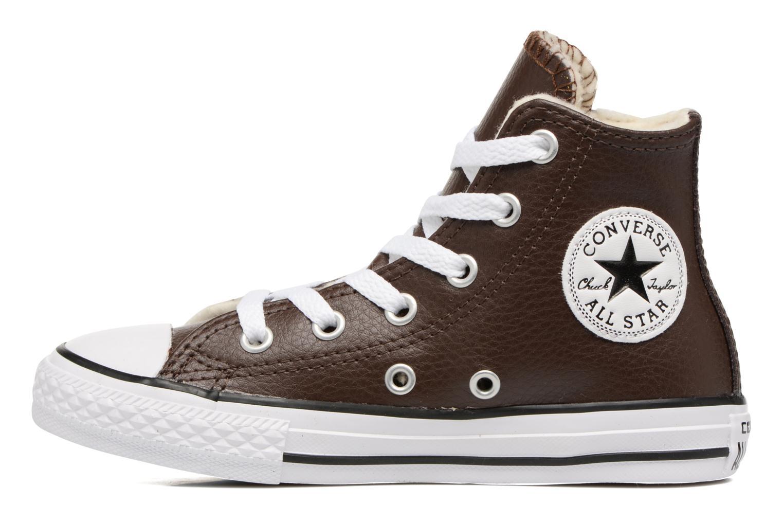 Sneaker Converse Chuck Taylor All Star Hi K braun ansicht von vorne