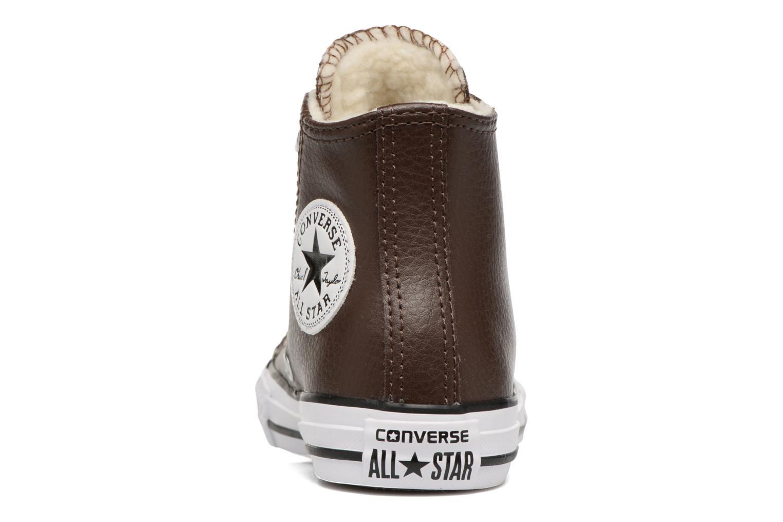 Sneaker Converse Chuck Taylor All Star Hi K braun ansicht von rechts