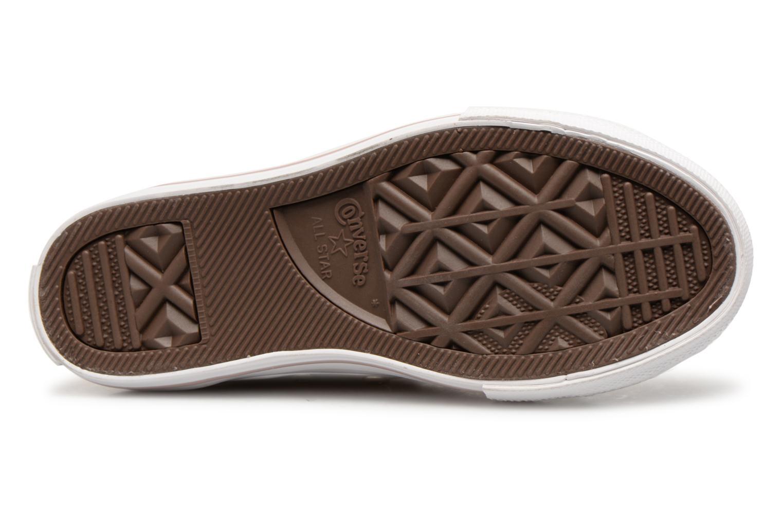 Sneakers Converse Chuck Taylor All Star Hi K Beige immagine dall'alto