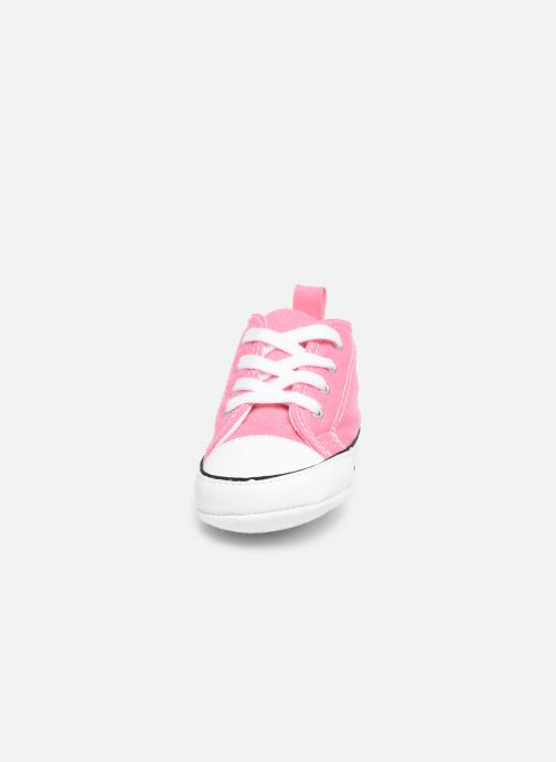 Sneakers Converse First Star Cvs Rosa modello indossato