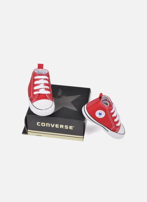 Deportivas Converse First Star Cvs Rojo vista de abajo