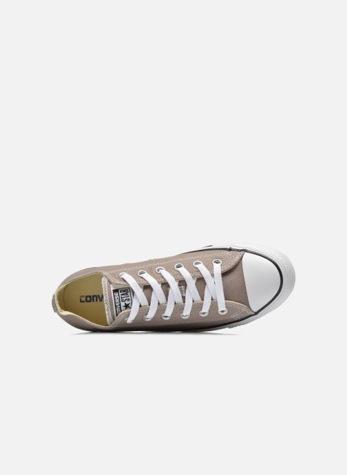 Baskets Converse Chuck Taylor All Star Ox M Beige vue gauche