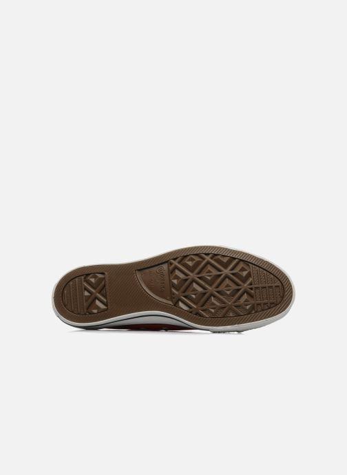 Sneakers Converse Chuck Taylor All Star Ox M Rosso immagine dall'alto