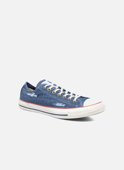 Baskets Converse Chuck Taylor All Star Ox M Bleu vue détail/paire