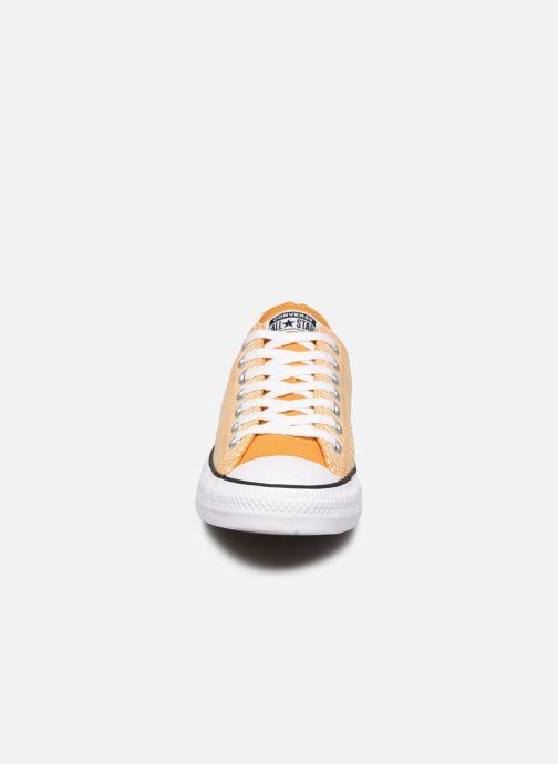Sneakers Converse Chuck Taylor All Star Ox M Giallo modello indossato