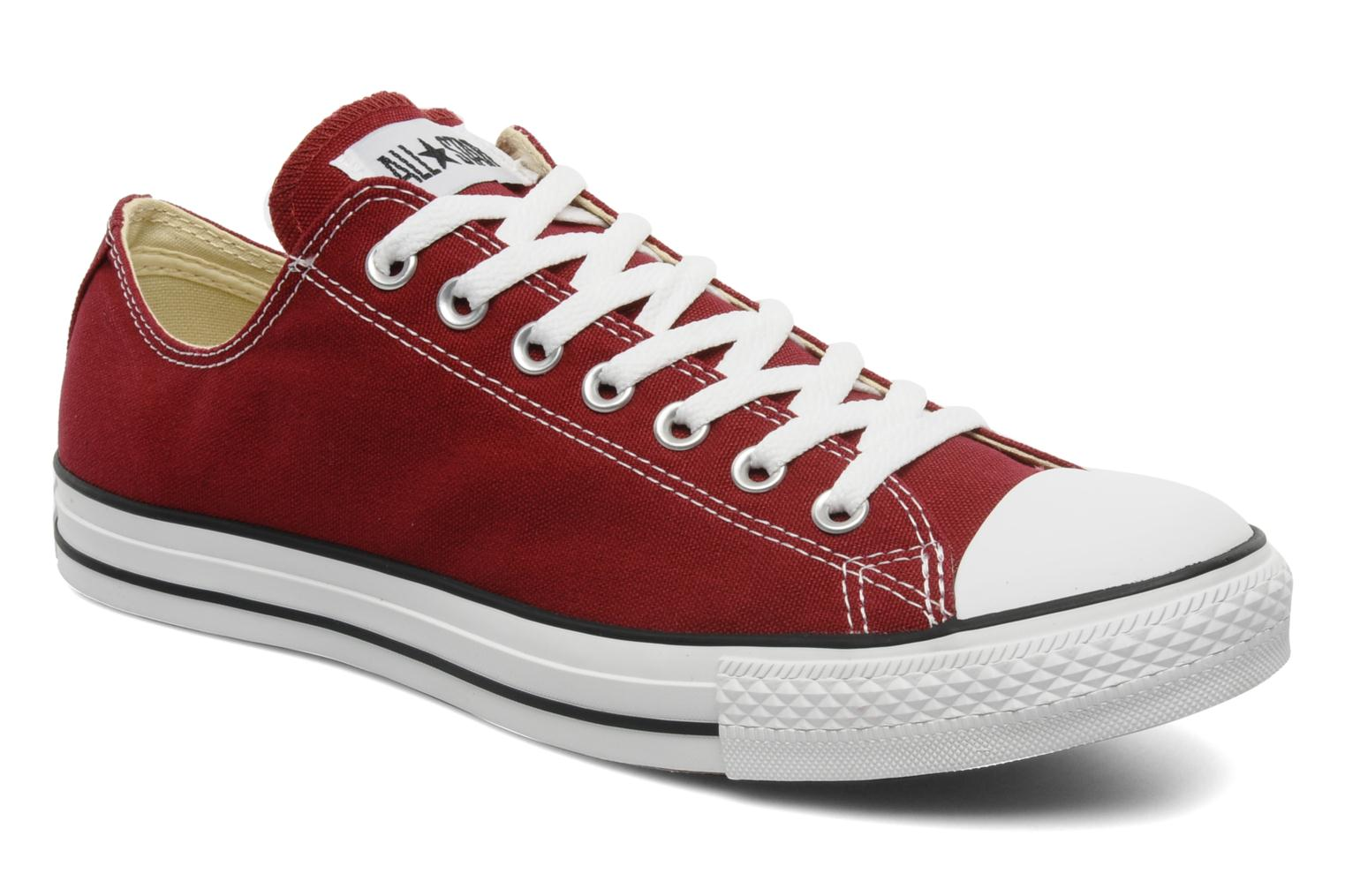 9672dc541fb7 Trainers Converse Chuck Taylor All Star Ox M Burgundy detailed view  Pair  view