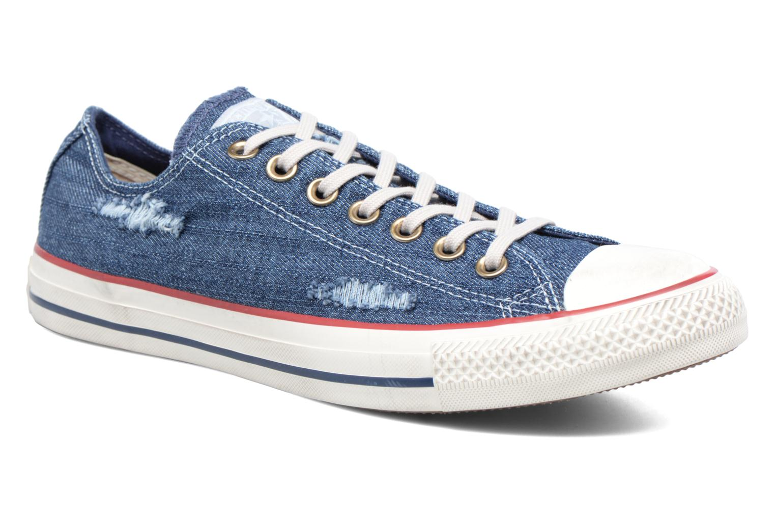 Converse Chuck Taylor All Star Leather Hi M (Bleu) Baskets