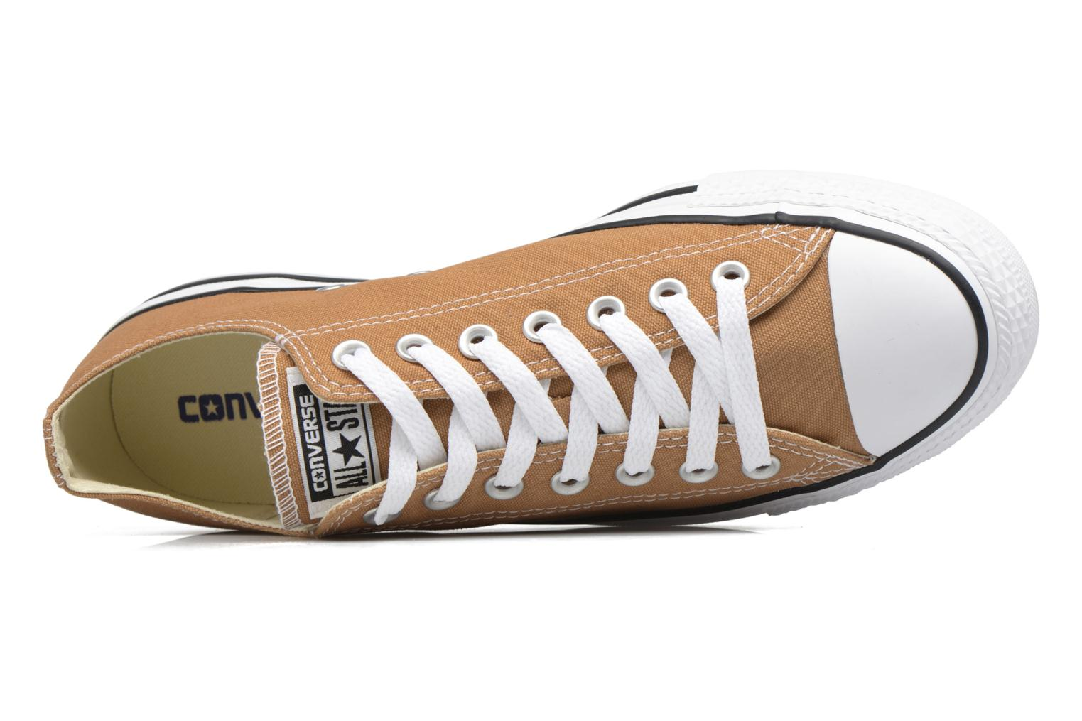 Baskets Converse Chuck Taylor All Star Ox M Marron vue gauche