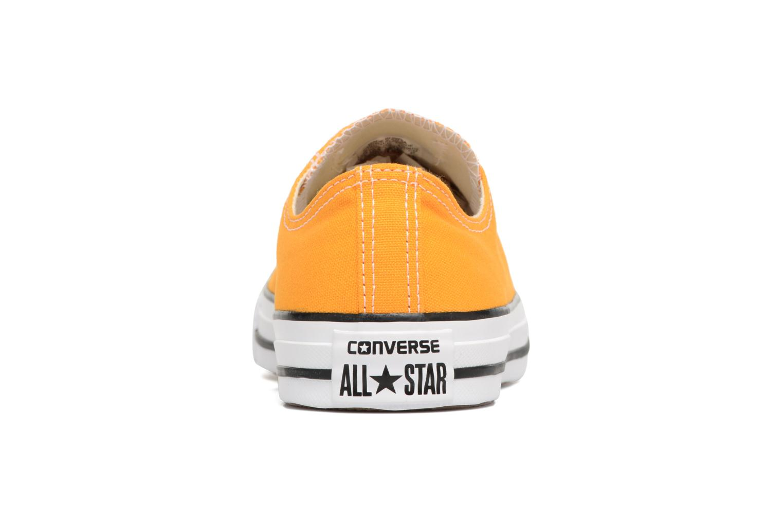 Baskets Converse Chuck Taylor All Star Ox M Jaune vue droite