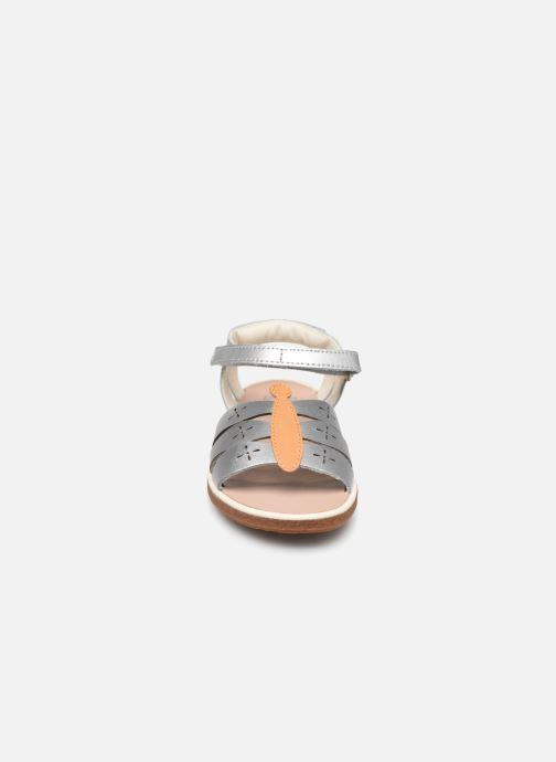 Sandales et nu-pieds Camper Twins Kids Argent vue portées chaussures