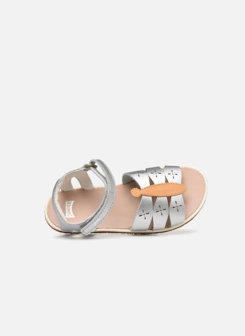 Sandals Camper Twins Kids Silver view from the left