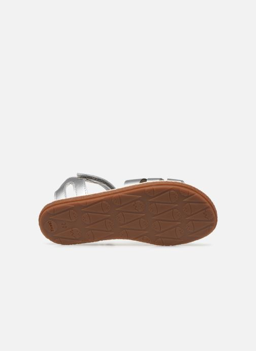 Sandals Camper Twins Kids Silver view from above