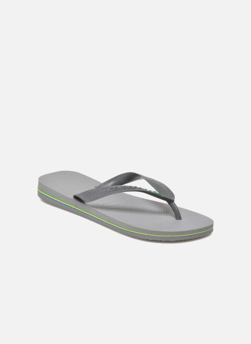 Flip flops Havaianas Brazil H Grey detailed view/ Pair view