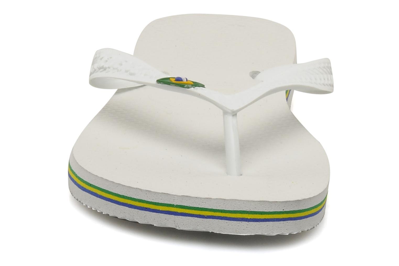 Flip flops Havaianas Brazil H White model view