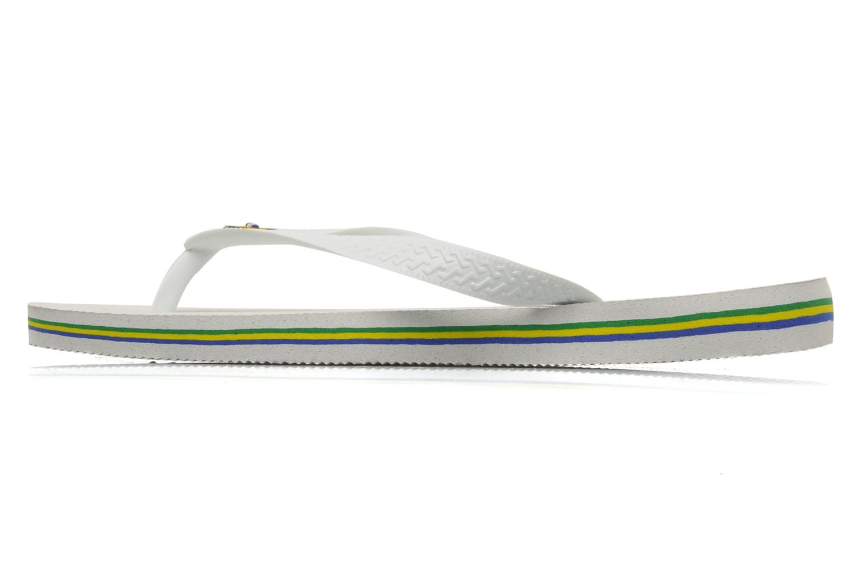 Flip flops Havaianas Brazil H White front view