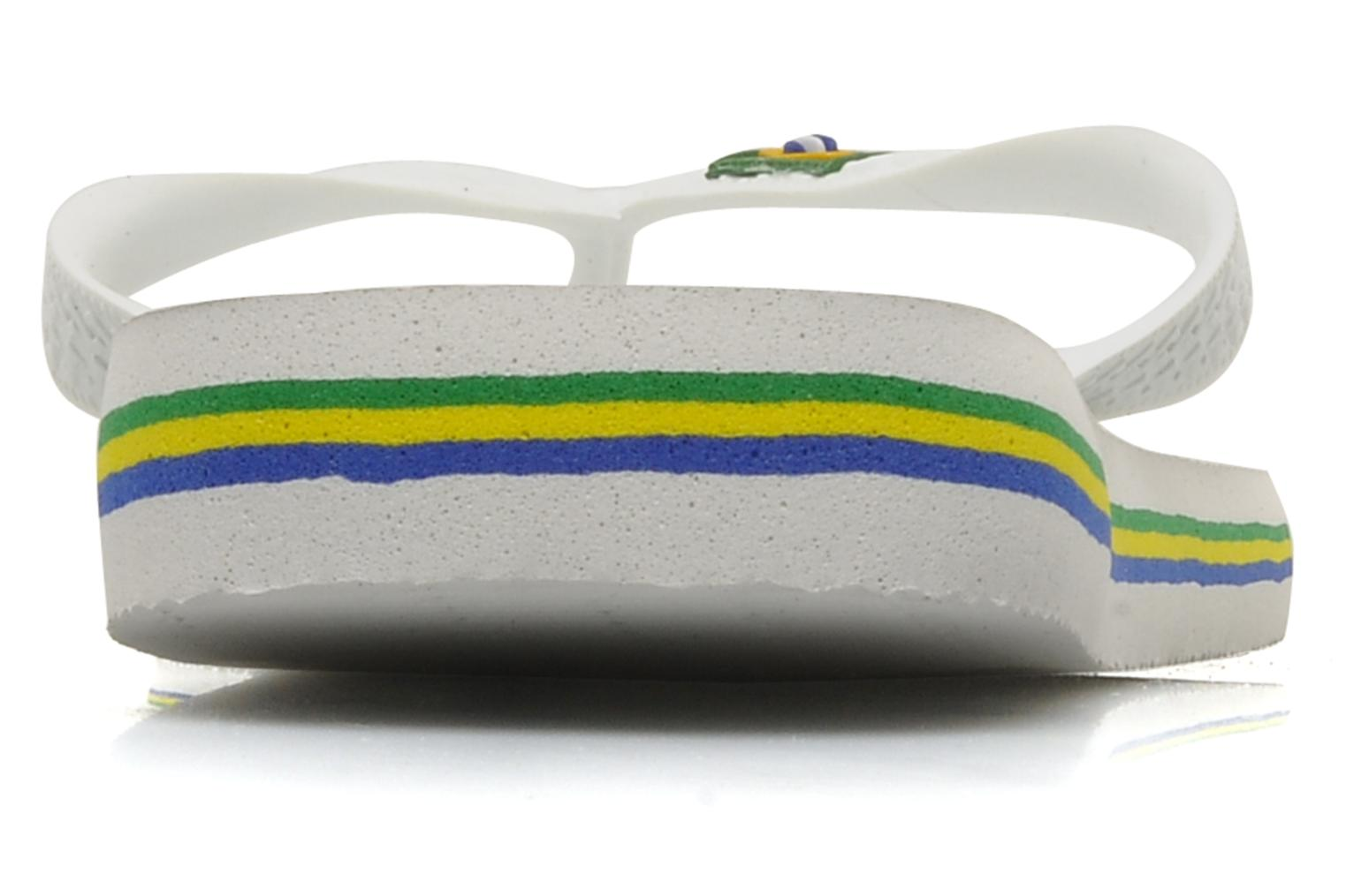 Flip flops Havaianas Brazil H White view from the right