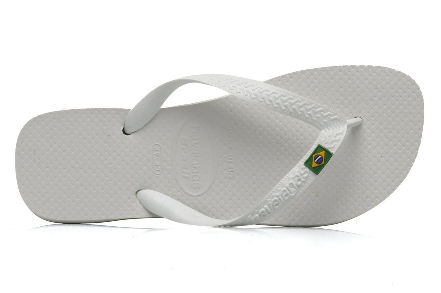 Flip flops Havaianas Brazil H White view from the left