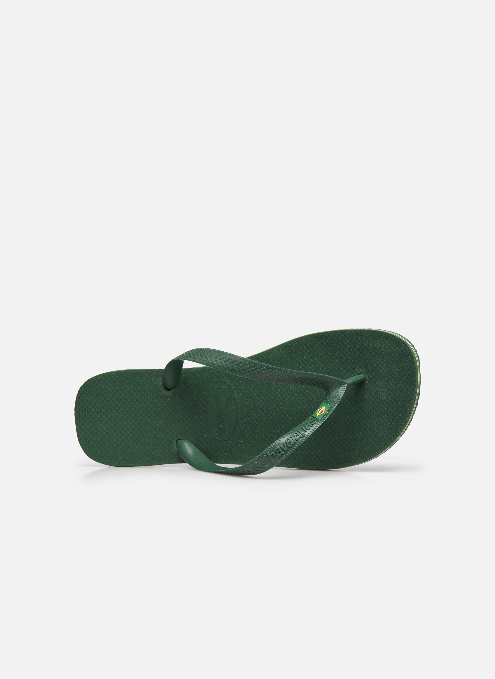 Flip flops Havaianas Brazil H Green view from the left