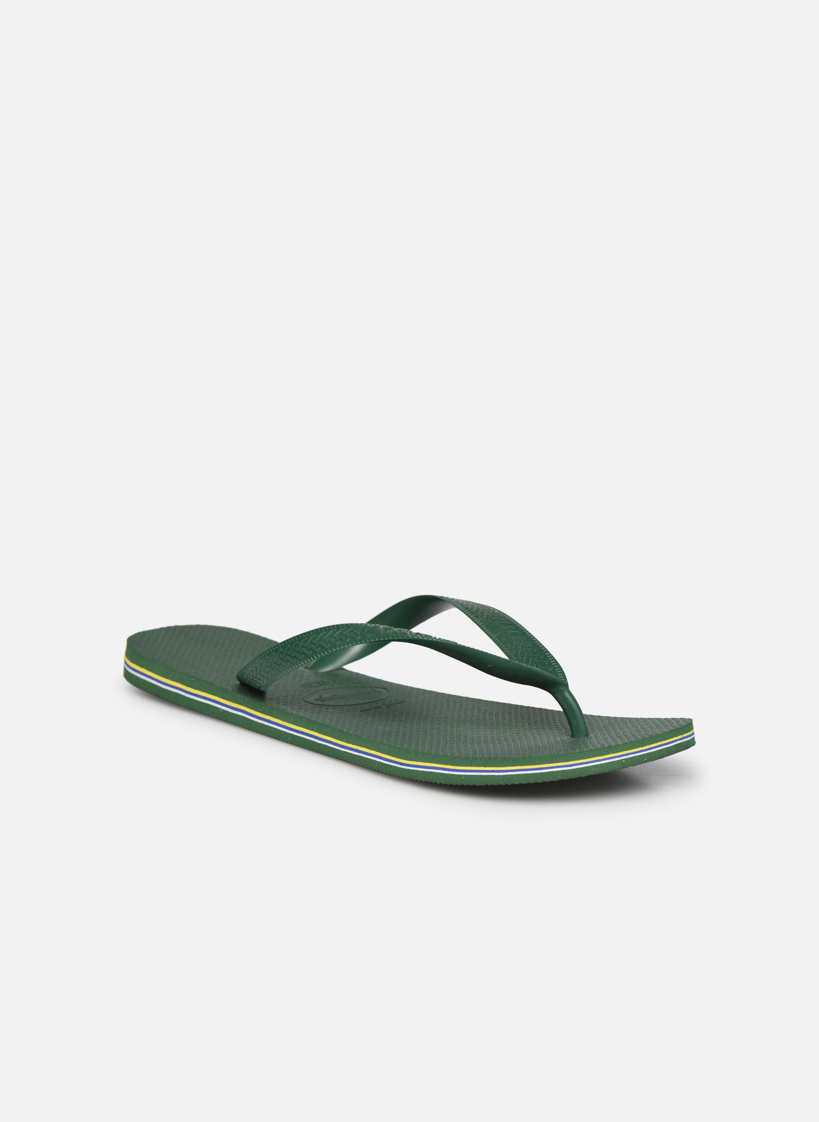 Flip flops Havaianas Brazil H Green detailed view/ Pair view