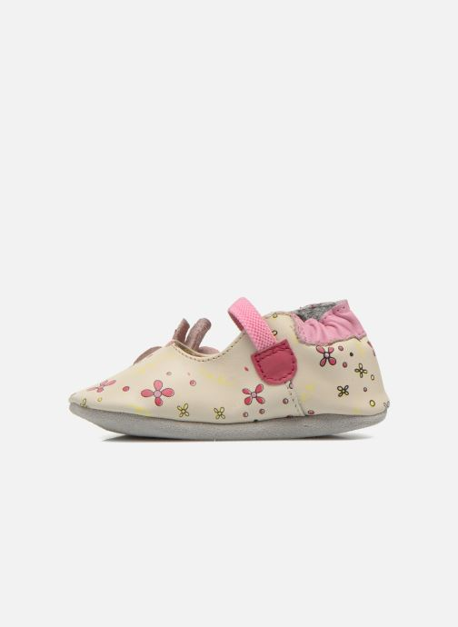 Chaussons Robeez Flower Power Beige vue face