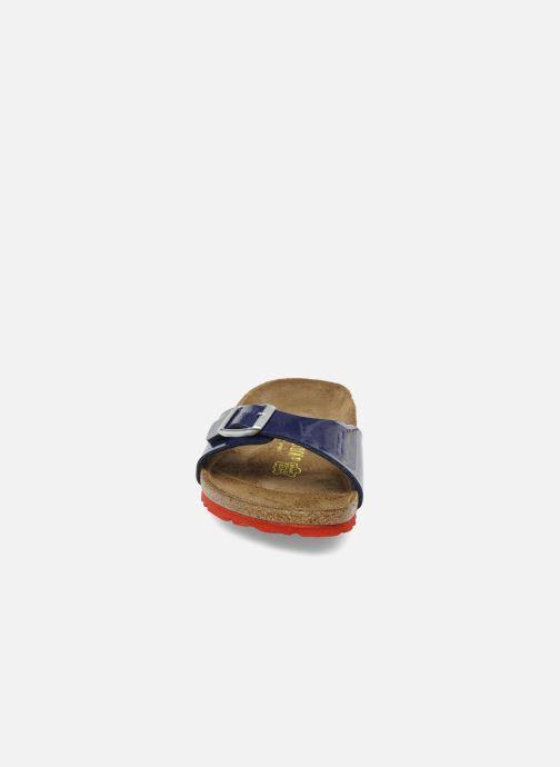 Mules et sabots Birkenstock Madrid Flor W Bleu vue portées chaussures
