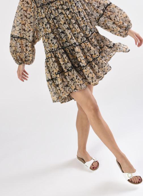 Clogs & Pantoletten Birkenstock Madrid Flor W weiß ansicht von unten / tasche getragen