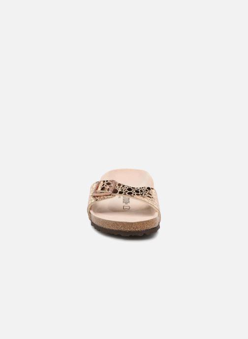 Mules et sabots Birkenstock Madrid Flor W Or et bronze vue portées chaussures