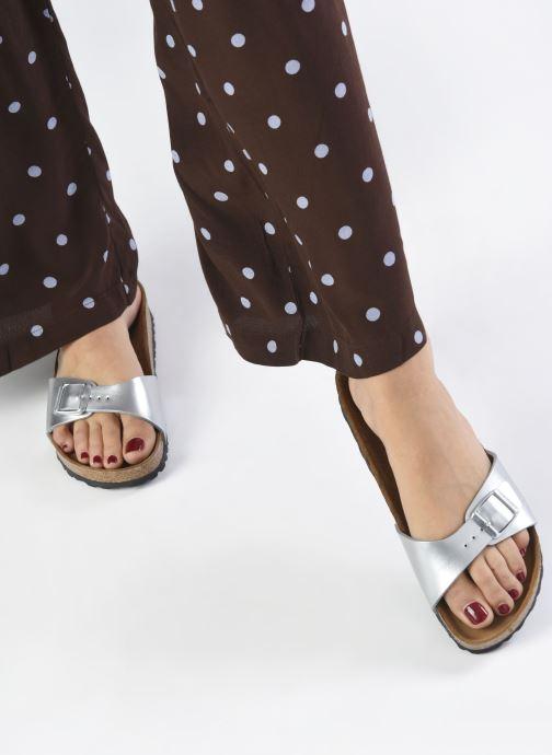Clogs & Pantoletten Birkenstock Madrid Flor W silber ansicht von unten / tasche getragen