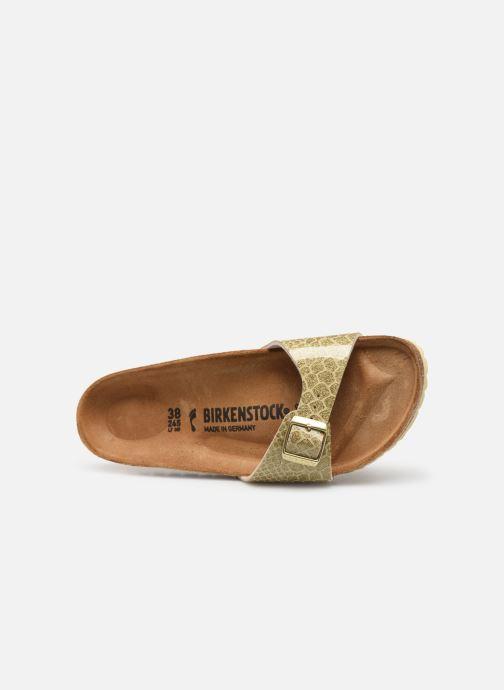 Zuecos Birkenstock Madrid Flor W Oro y bronce vista lateral izquierda