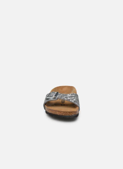 Clogs & Pantoletten Birkenstock Madrid Flor W silber schuhe getragen