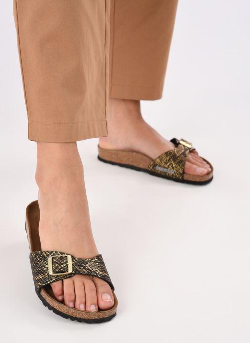 Clogs & Pantoletten Birkenstock Madrid Flor W gold/bronze ansicht von unten / tasche getragen