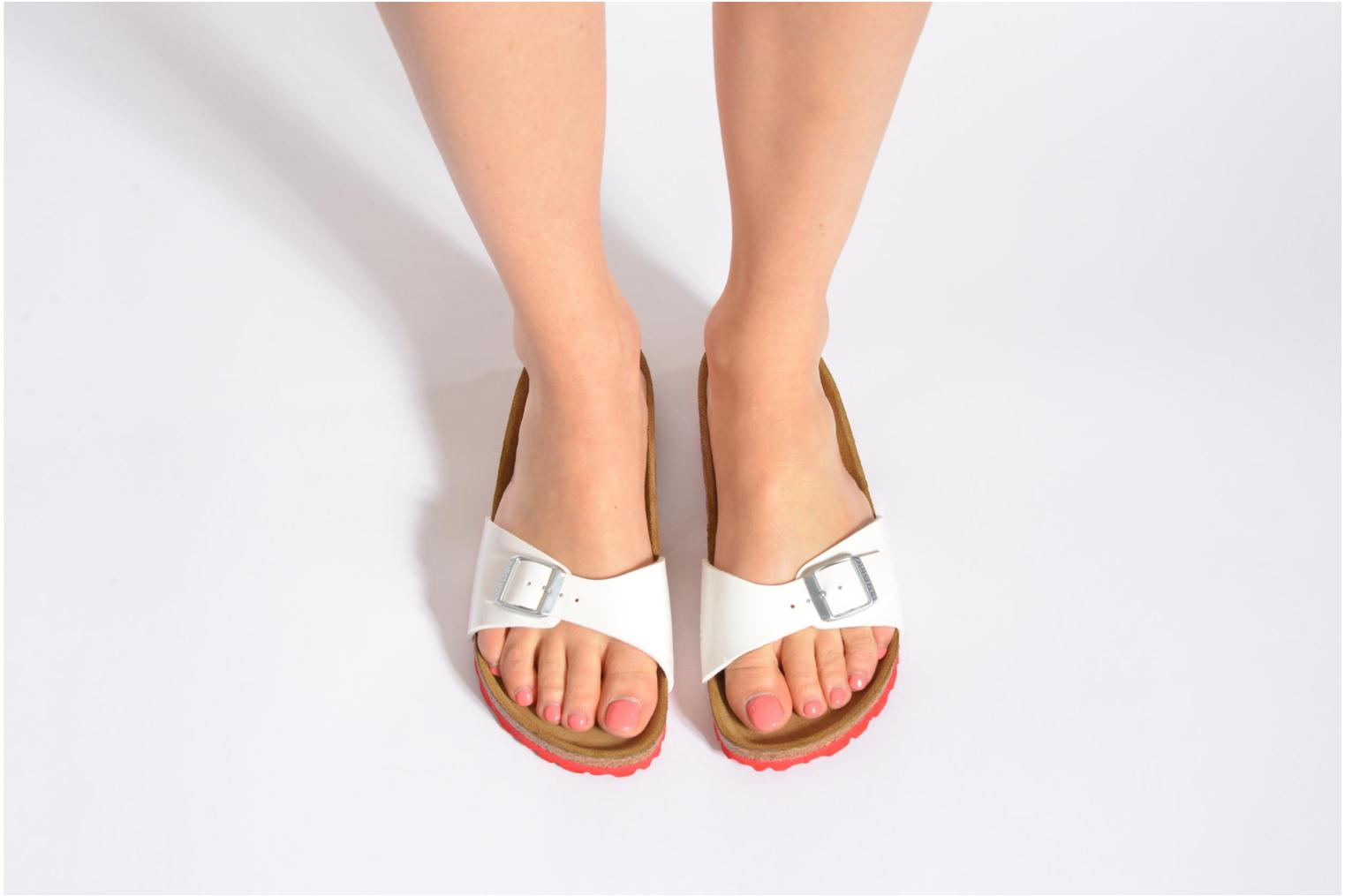 Mules & clogs Birkenstock Madrid Flor W White view from underneath / model view
